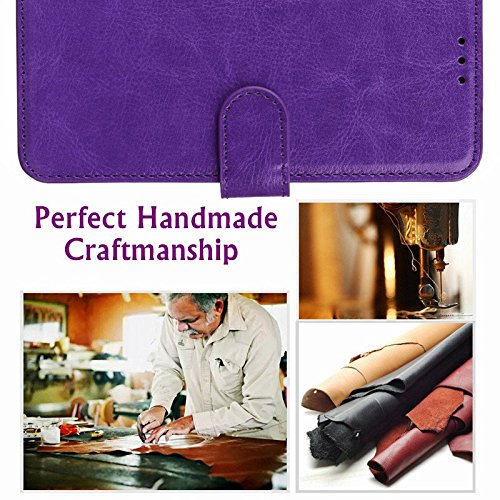 LG Stylus 4 Case, LG Q Stylus Case, LG Stylo 4 Case With Screen Protector, I VIKKLY [Kickstand] Magnetic Snap Premium PU Leather Wallet with Card Slot Folio Flip Case for Stylo 4 (2018) (Purple) by I VIKKLY (Image #6)
