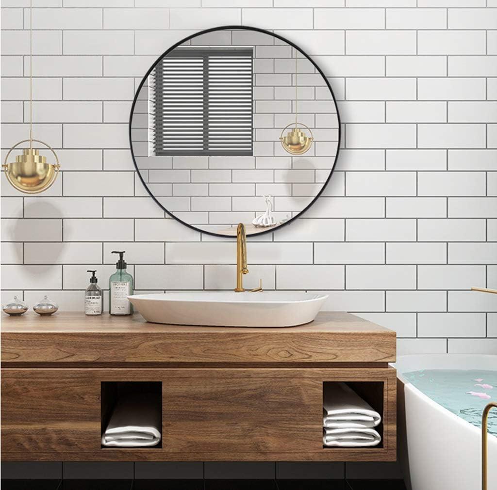 Miroir - miroir rond de salle de bain en fer forgé, miroir mural blanc  16/16 / 16cm (taille : 16 cm)