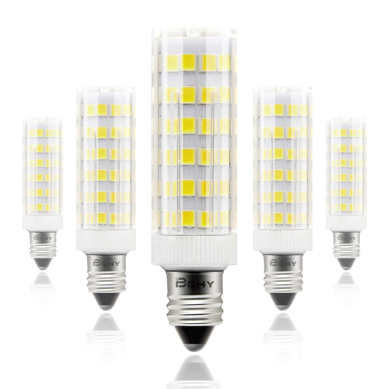 Bqhy E11 Led Bulb Mini Candelabra 5w Led Bulb E11 Base Bulb Dimmable 50w Equivalent Led Bulb Daylight 6000k Replaces T4 T3 Jd Type Clear E11 Light