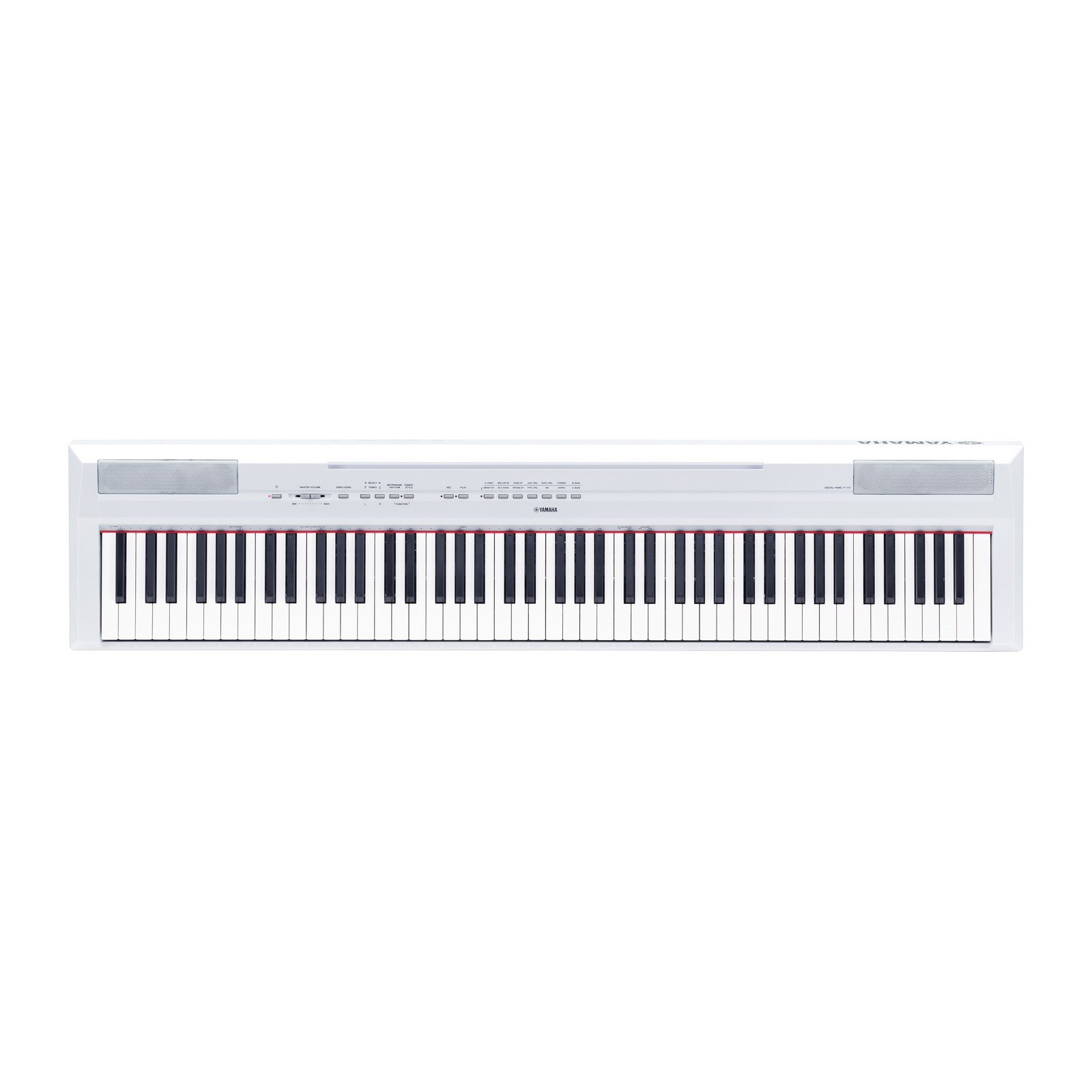 Yamaha P115 88-Key Weighted Action Digital Piano with Sustain Pedal, White by YAMAHA