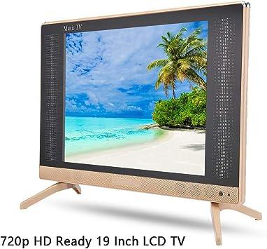 Televisor LCD de 19 Pulgadas Alta definición portátil 1366x768 Resolución HD LCD TV portátil Fernseher Freenet TV Mini televisión Sonido bajo, Soporte HDMI/USB/VGA/TV/AV(UE): Amazon.es: Electrónica