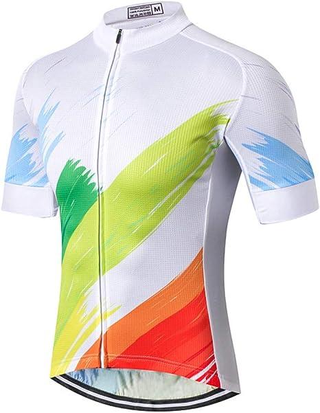 Camisa de MTB para Hombre, Camiseta de Manga Corta, Secado rápido, Blusas de Bicicleta comprimidas, Ropa de Ciclo elástico, Camisetas de Ciclismo de montaña de Verano: Amazon.es: Deportes y aire libre