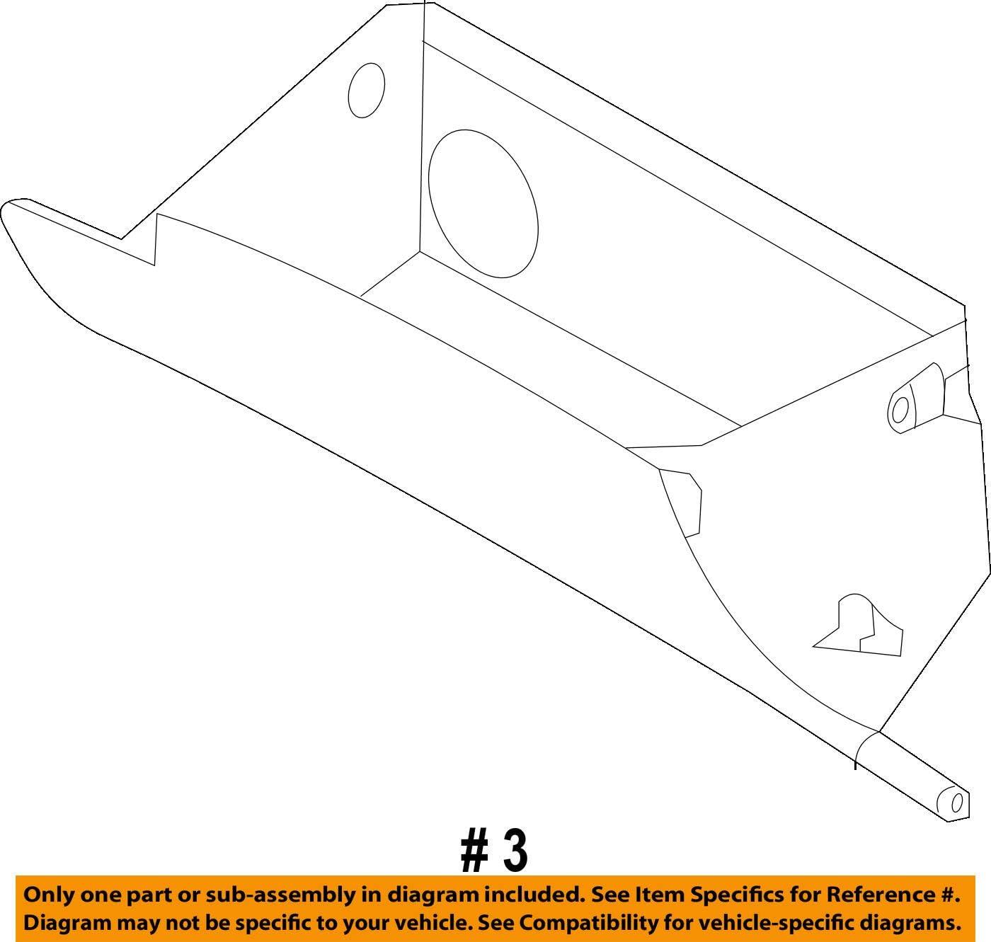 Genuine Hyundai 84510-4Z000-NBC Glove Box Housing Assembly