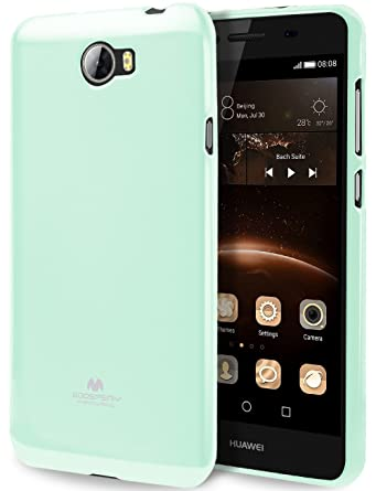 GOOSPERY Marlang Marlang Huawei Y5 II case - Mint Green, Free Screen  Protector [Slim Fit] TPU Case [Flexible] Pearl Jelly [Protection] Bumper  Cover
