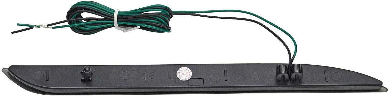 NSLUMO For 2015-2017 F`ord Mustang Smoke Lens 2PCS Rear Red LED Bumper Reflector Lights