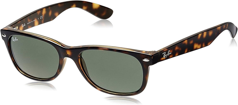 Ray-Ban Gafas de Sol RB2132 NEW WAYFARER TORTOISE/CRYSTAL GREEN: Amazon.es: Ropa y accesorios