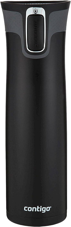 Contigo Autoseal West Loop Vacuum Insulated Travel Mug with Easy-Clean Lid, 24oz, Matte Black