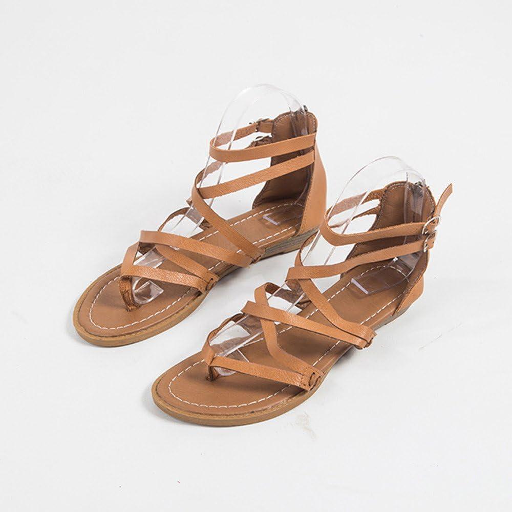 Sandalias Mujer Verano 2019 Planas Mujer Verano Estilo Casual Playa Sandalias Zapatos Romanos Chanclas Color S/ólido del Dedo del Pie Zapatos De Playa Mujer Sandalias De Vestir Ni/ña LEvifun