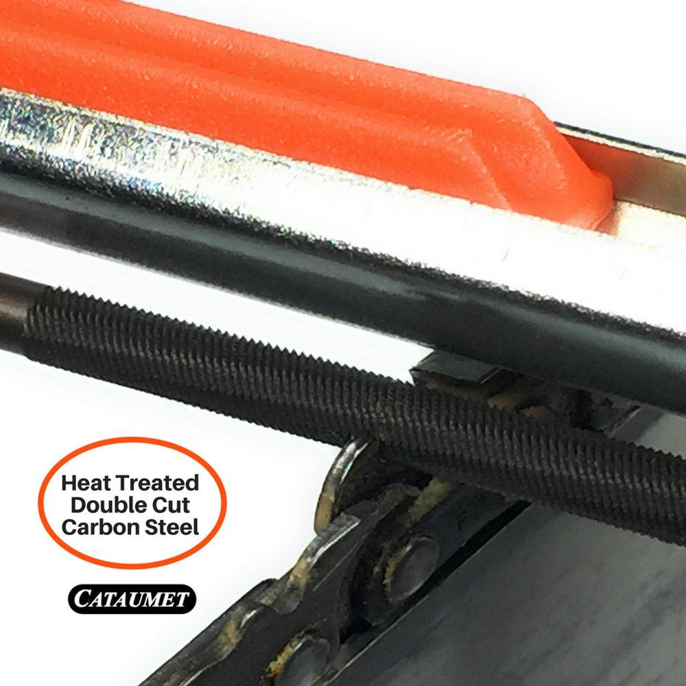 3//16 stumpf-Laster Tiefenmesser Cataumet kettens/ägensch/ärfer-dateikit-inklusive 5//32 5,5 Felling-Keil feldsack 7//32mit rutschfesten Griff F/ührern flacher Datei kettens/ägenschl/üssel