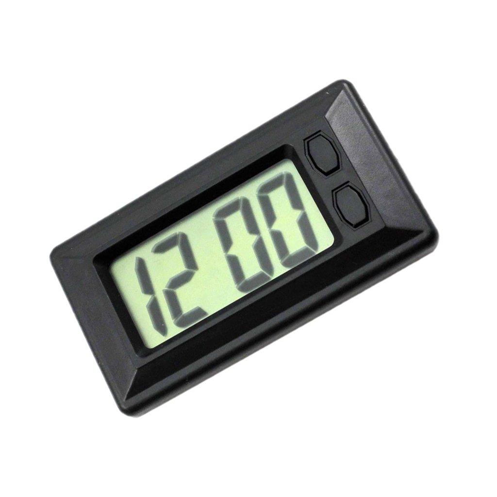 Dolity Reloj Digital LCD Pantalla con Pegatina Adhesiva Montado Tablero de Coche: Amazon.es: Coche y moto