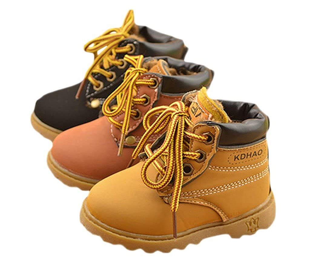 TAIYCYXGAN Baby Girls and Boys Lace Up Martin Snow Boots Winter Shoes