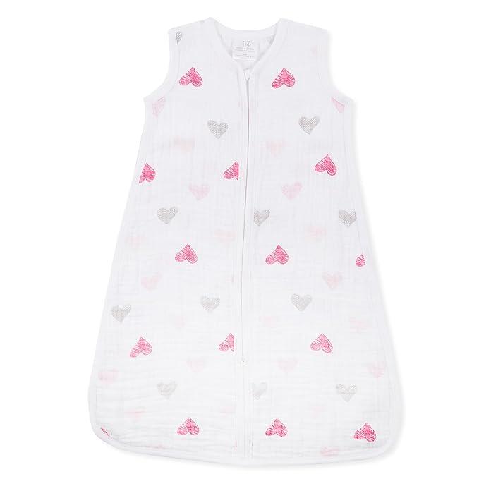 aden + anais Classic Muslin - Saco de dormir, 1 tog, tamaño mediano, de 6 a 12 meses, diseño de agapornis: Amazon.es: Bebé