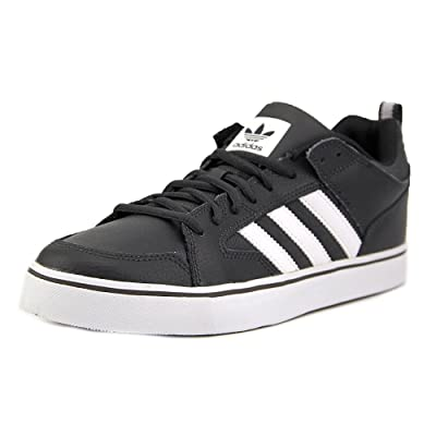 reputable site 5ca82 4de44 Adidas Varial II Low Men Round Toe Leather Gray Sneakers