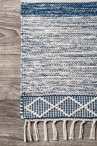 nuLOOM Angela Striped Fringe Wool Area Rug