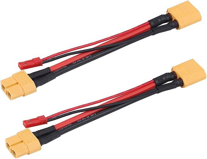 2 Pezzi//Set Adattatore Connettore XT60 14AWG Cavo in Silicone Accessorio RC Dilwe Cavo Femmina Maschio XT60