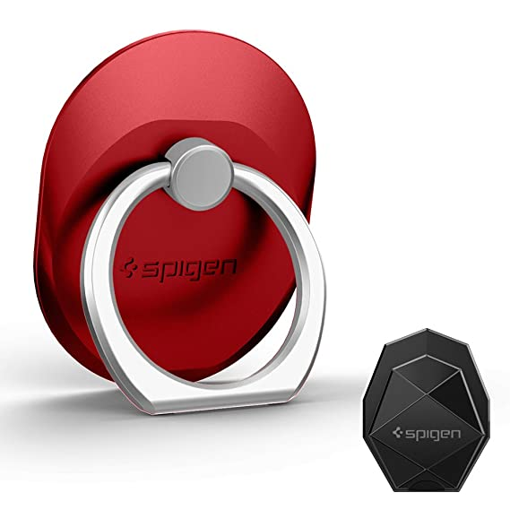 quality design cf18e 77c77 Spigen Style Ring Cell Phone Ring Phone Grip/Stand/Holder for All Phones  and Tablets - Red