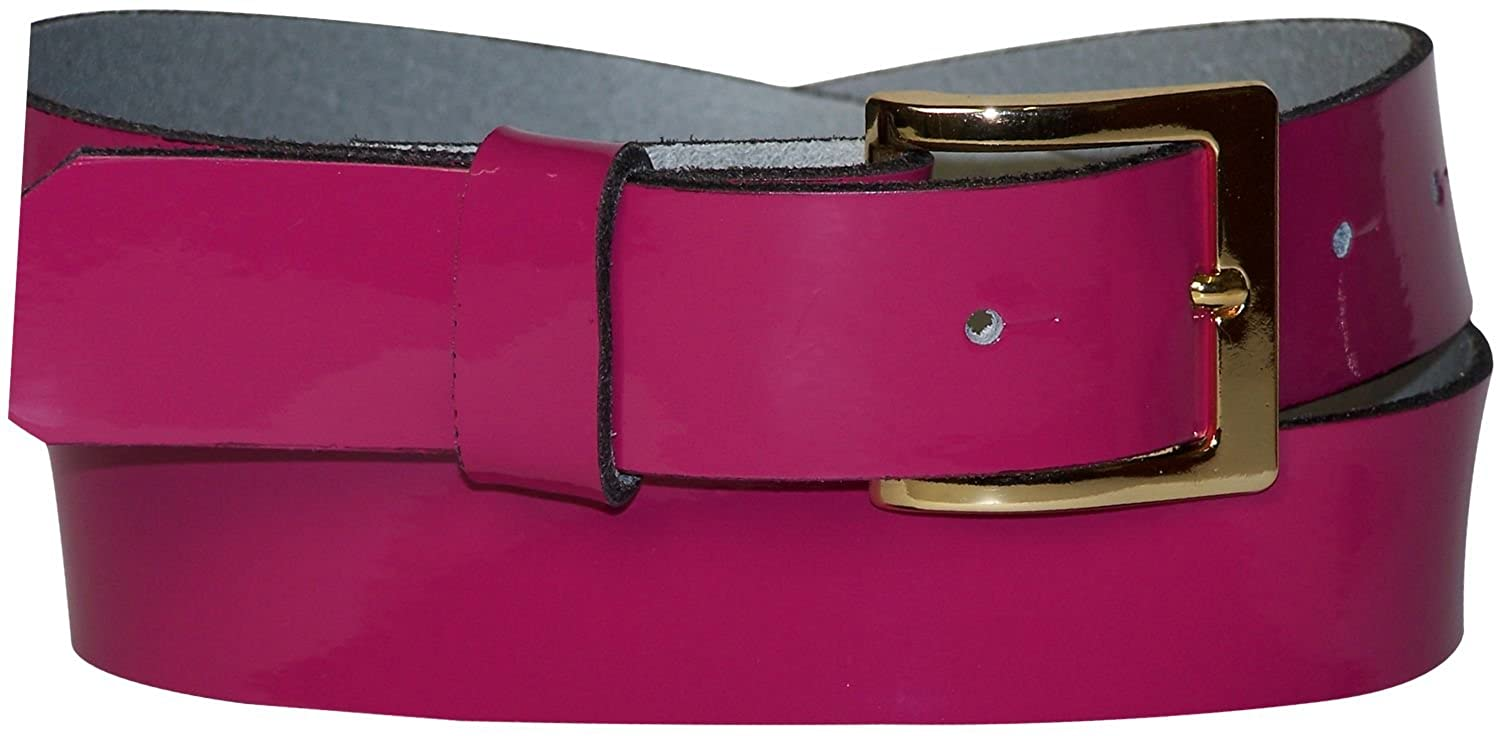 FRONHOFER patent leather belt with a gold buckle 1.2//3cm wide 18249