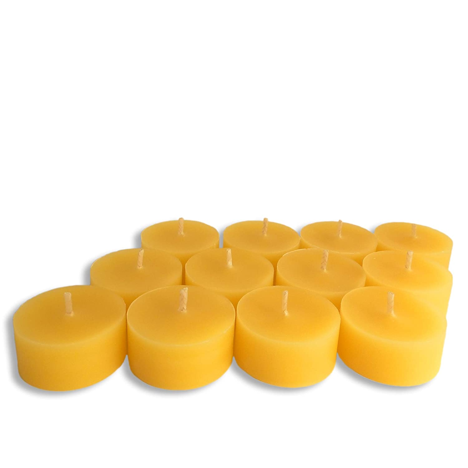 BCandle 100% Pure Beeswax Tea Light REFILLS (no cup) (6)