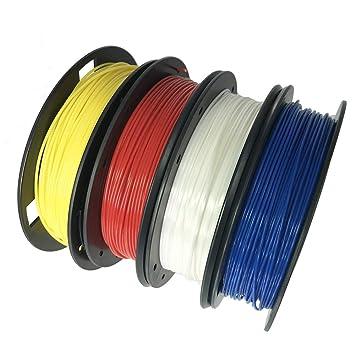 XXIAZHI,Impresora 3D PLA 1.75mm Paquete de 4 Colores para Creality ...