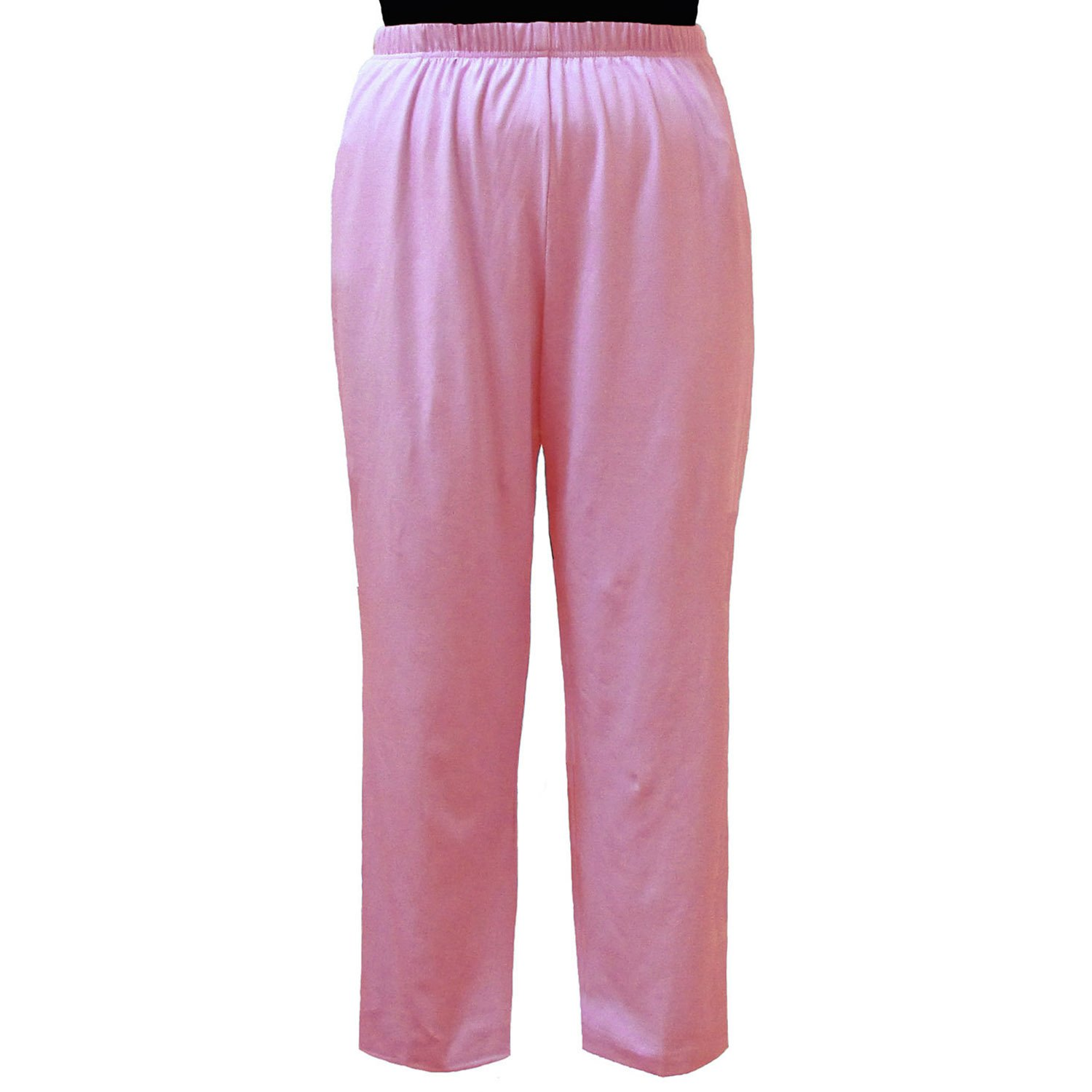 A Personal Touch Womens Plus Size Pink Cotton Knit Pull-On Pant