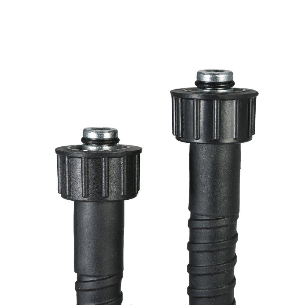 KKmoon 1//4 x 26.2 Pressure Washer Extension Hose for Karcher K Series Standard 22mm-14 Female Twist Connection