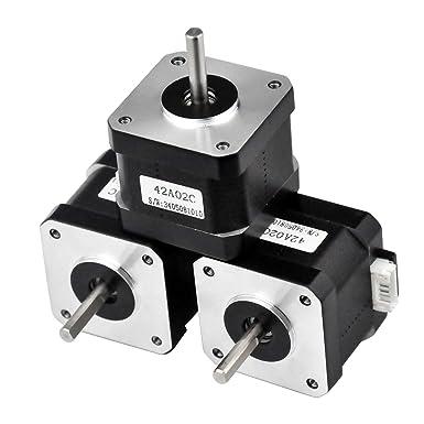 42A02C-Dupont, 1 Rtelligent 42A02C Schrittmotor 2 Phasen Nema 17 Arduino Mini Stepping 42 Ncm 1,5 A Strom 38 mm L/änge Bipolar 4,5 mm Welle mit 30 cm Kabel f/ür 3D-Druck CNC
