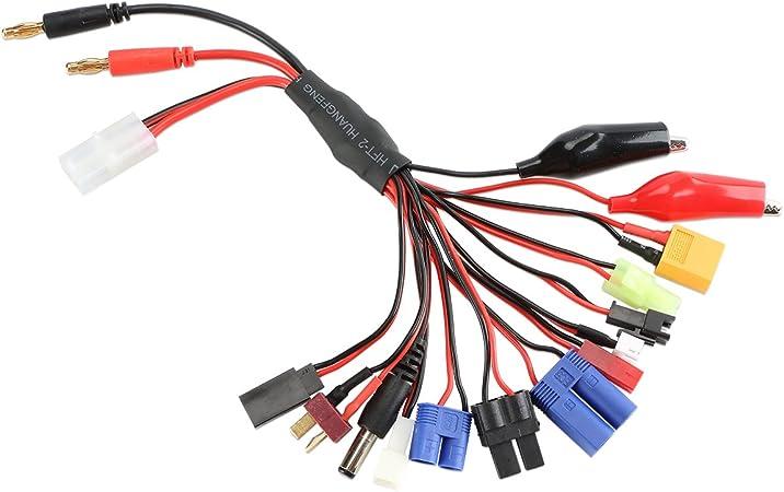Conectores, Cables de Entrada para Banana y Tamiya, Soporte de Salida para EC3, EC5, XT60, Mini Tamiya, JST, JR FUTABA, Pinzas de cocodrilo, Conector ...