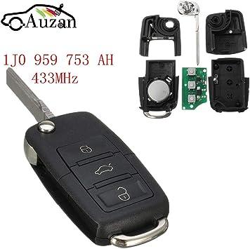 Volkswagen Seat Skoda 1J0 959 753 AH ID48 3 Button Remote Control Flip Key 433Mh