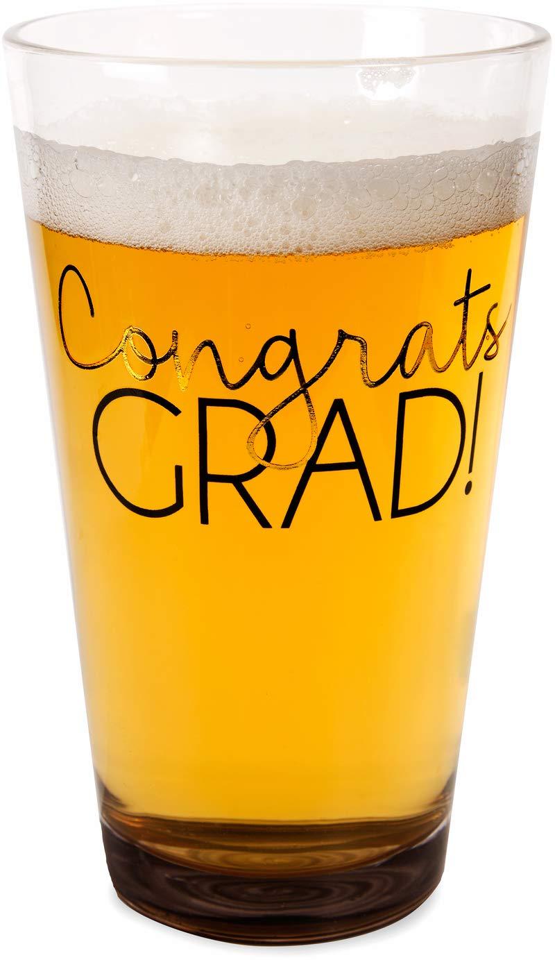 Pavilion Gift Company 61105 Congrats Grad Pint Glass Tumbler