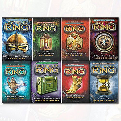 - Infinity Ring Series Collection 8 Books By James Dashner Set (A Mutiny in Time, Divide and Conquer, The Trap Door, The Curse of the Ancients, Cave of Wonders..