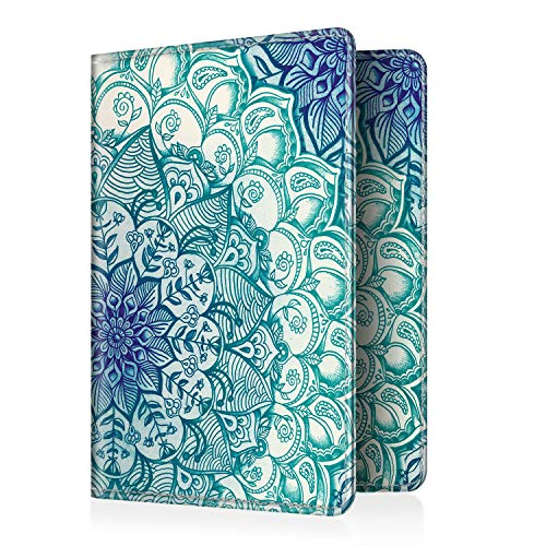 Fintie Passport Holder, Premium PU Leather RFID Blocking Case Cover for Passport, Emerald Illusions