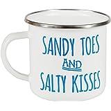 Sandy orteils & Salty Kisses émail