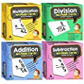 Star Right Math Flash Cards Multiplication, Addition, Subtraction and Division - All Facts 0-12 with Rings