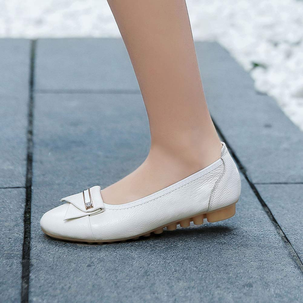 INSTAR Womens Adorable Soft Sole Round Toe Mary Jane Flat Slip On Pumps
