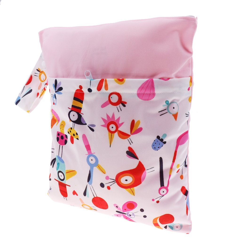 as described Style 2 Travel Wet And Dry Cloth Diapers Wet Bags Waterproof Reusable