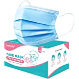 Kids Face Mask Disposable 50 Pack, Sankelle 3-Ply Breathable Anti-dust Protective Face Mask for Children, Blue