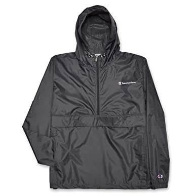 60e13046 Champion Mens Big and Tall Packable Lightweight Anorak Jacket Charcoal  GrayXLT
