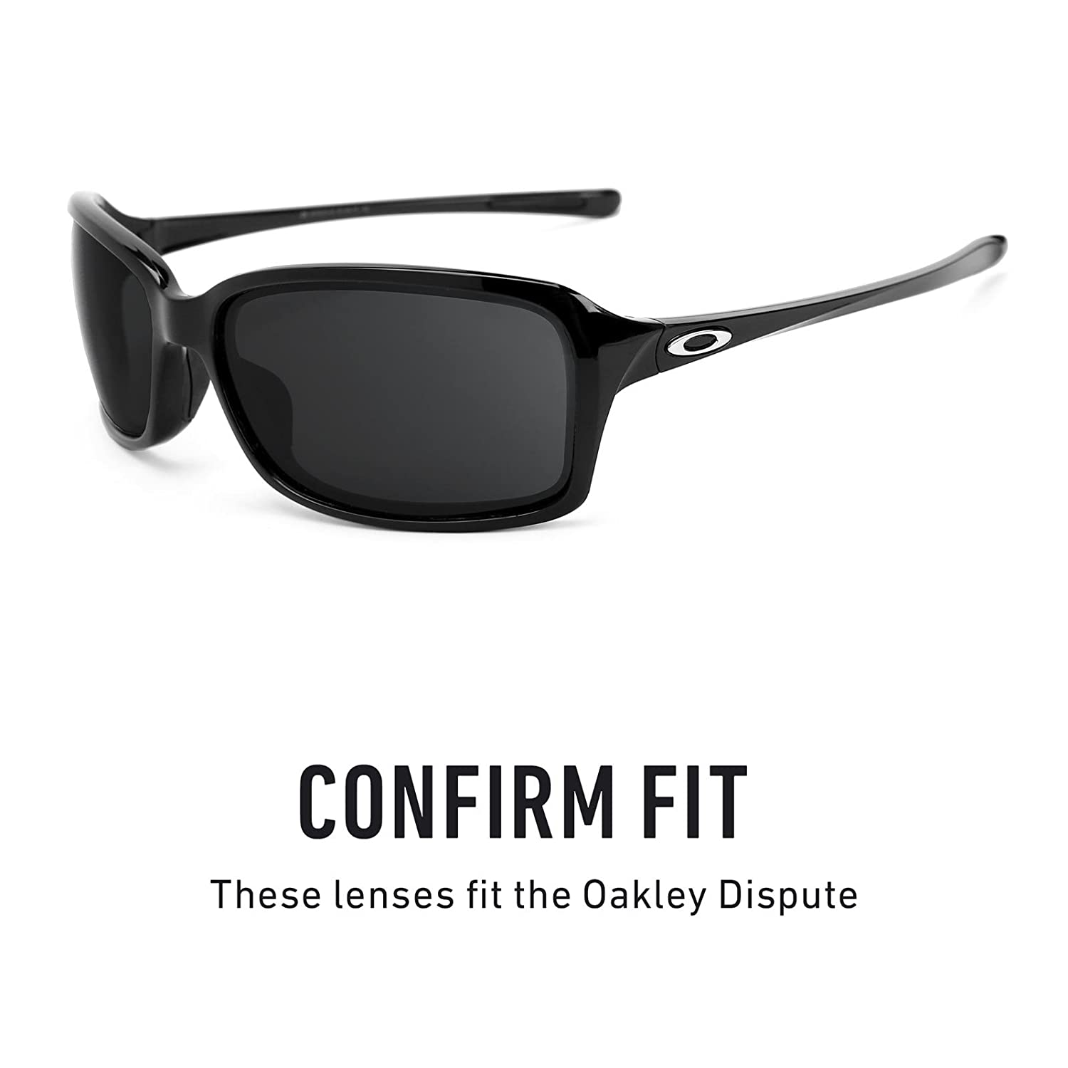 67a6f55cb6fce Revant Polarized Replacement Lenses for Oakley Dispute Black Chrome  MirrorShield at Amazon Men s Clothing store