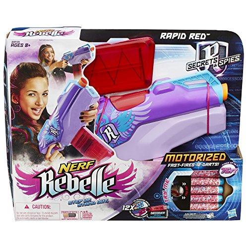 Nerf rebelle rapid red blaster import it all for Nerf motorized rapid fire blasting