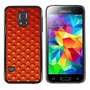 KOKO CASE / Samsung Galaxy S5 Mini, SM-G800, NOT S5 REGULAR! / papel pintado patrón aleatorio de naranja textura / Delgado Negro Plástico caso cubierta Shell Armor Funda Case Cover