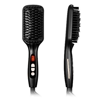 lismile pelo glättungs Cepillo con función Anion MCH calentamiento rápido eléctrica glättb redondo para pelo largo