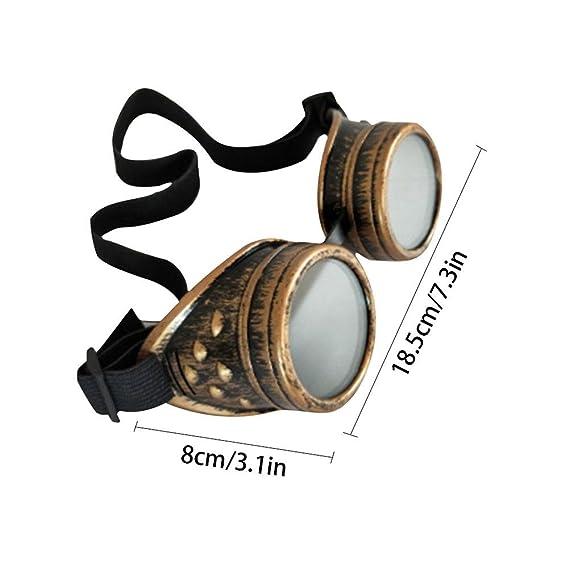 RONDAA Gafas de Montar Retro Vintage Victorian Steampunk Gafas Protección oculares Soldadura Cyberpunk gótico Cosplays: Amazon.es: Hogar