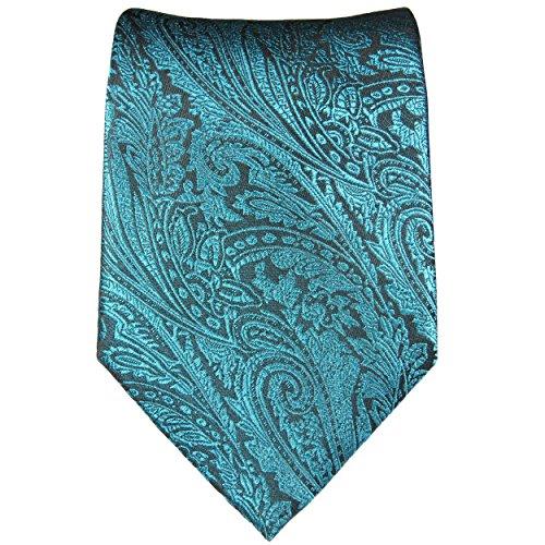 Cravate homme aqua bleu noire 100% soie