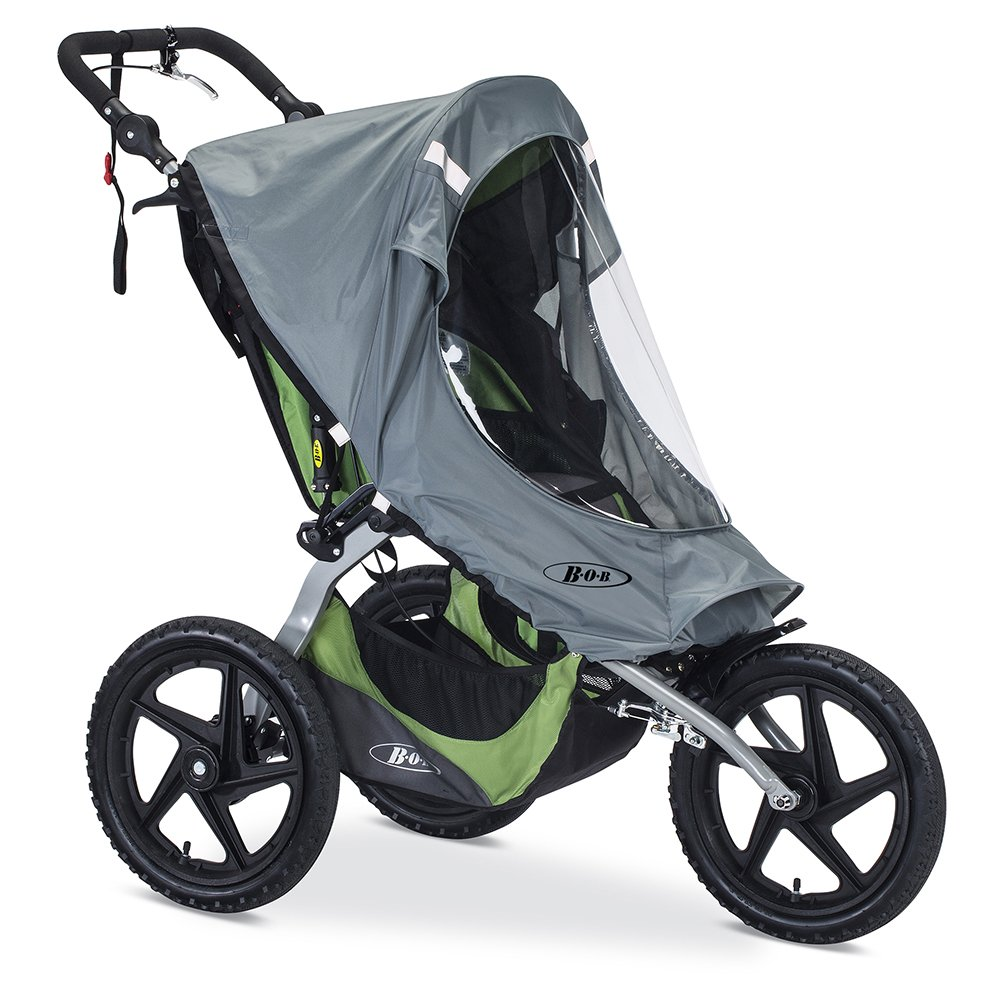 BOB Weather Shield for Single Fixed Wheel Jogging Strollers, Grey by BOB Gear