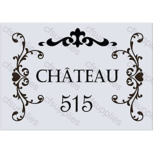A3 Large Stencil Shabby Chic, French, Furniture, Fabric, Glass, Reusable  Mylar