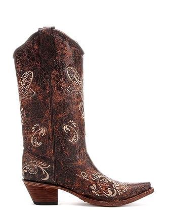 4508c74737 Corral Mujer libélula Bordado Botas Vaqueras  Amazon.es  Zapatos y  complementos