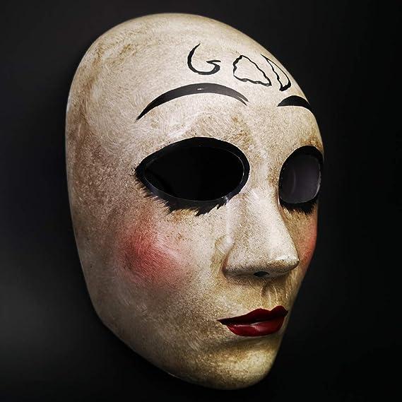 CCUFO Máscara Cruzada y máscara de Dios para Disfraz de Halloween, máscara de Purga de Horror de la película de la anarquía, Traje Unisex para Adultos y ...