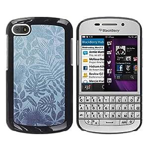 """Pulsar Snap-on Series Teléfono Carcasa Funda Case Caso para BlackBerry Q10 , Naturaleza Leaves Wallpaper Tropical"""""""