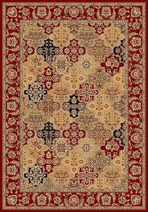 Red Kashan Panel - KAS Rugs Cambridge 7325 Kashan Panel Area Rug -