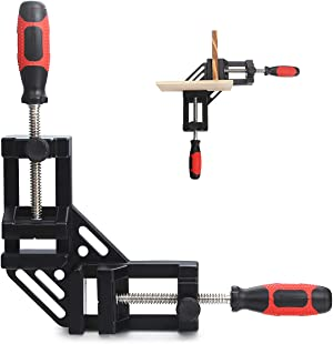 Corner Clamp Double Handle, A-KARCK 90 Degree Right Angle Clamp Aluminum Alloy Construction, Perfect Holds Wood and Metal at a Right Angle